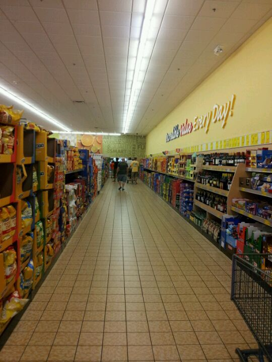 Aldi. Discount grocery store. Go here for authentic German food & the best prices on Haribo Happy Cola.