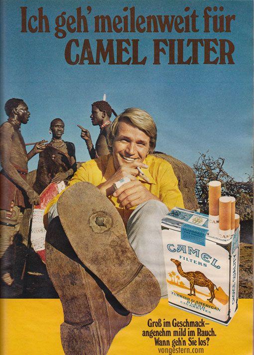 Zigarettenwerbung (70er Jahre): Rauchen gilt damals als Abenteuer, nicht als gesundheitsgefährdend!!!
