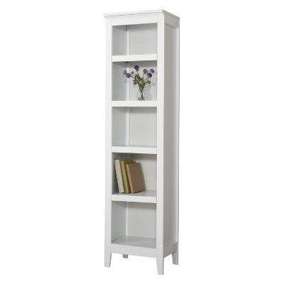 Threshold carson narrow 5 shelf bookcase white target for Target bathroom storage shelves