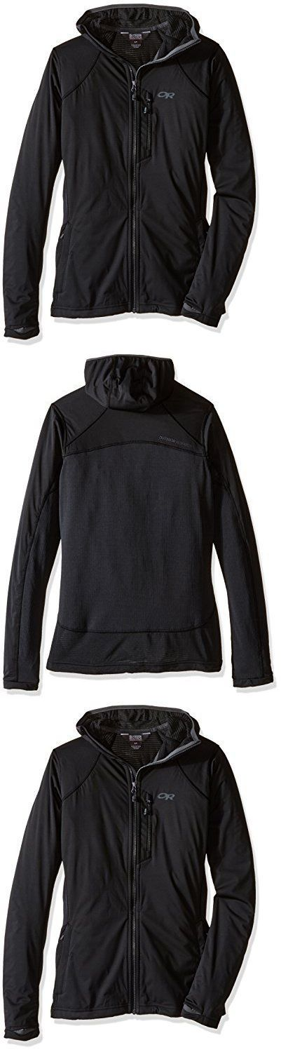 Shirts Tops and Sweaters 181368: Outdoor Research Centrifuge Hoody Black Large Womens Hiking Shirts, New -> BUY IT NOW ONLY: $78.72 on eBay!