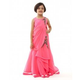 Pink Gown Lengha Set  #ExclusivelyEOSS