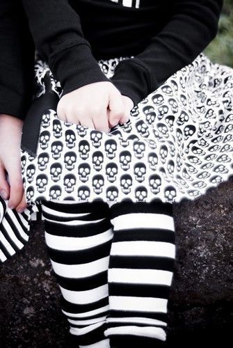 KOOL KID Arm / Leg Warmers for Baby, Toddler, Child, Tween Boy or Girl - Black and White Stripes - Fun and Functional Fashion.via Etsy.