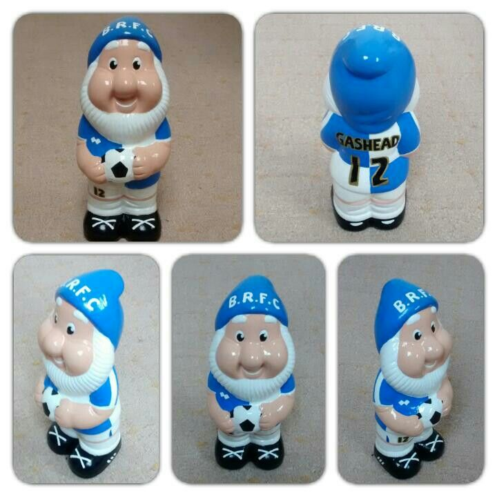 Custom Bristol Rovers FC gnome ⚽