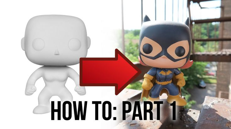 I've received a LOT of questions about how to make custom Funko POP!s/vinyl toys... so here's the first part in a tutorial series!