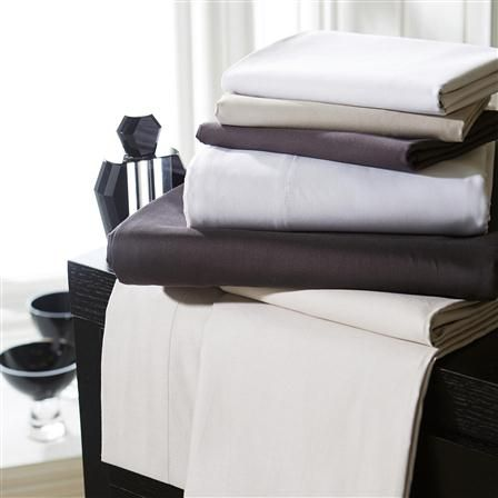 Hotel Living 1000TC Double Fitted Sheet, White
