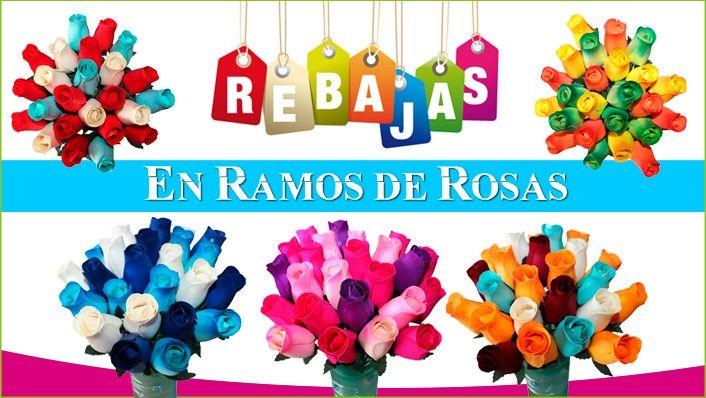 Rebajas en ramos de rosas www.rosasdemadera.org #rebajas #floresdemadera
