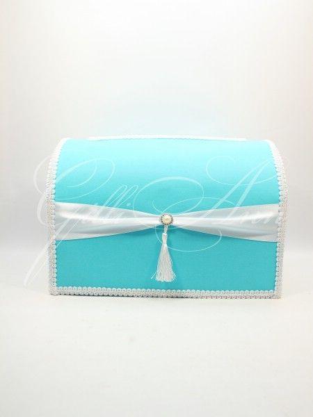 Сундук для денег на свадьбу бирюзовый Gilliann Mystery BOX060, http://www.wedstyle.su/katalog/anniversaries/wedding-box-money, #wedstyle, #свадебныеаксессуары, #сундучокдляденег, #свадебныйсундучок, #weddingbox