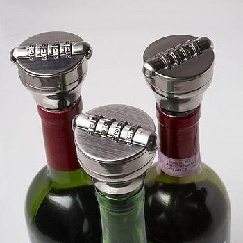 Combination Lock Bottle Stop.