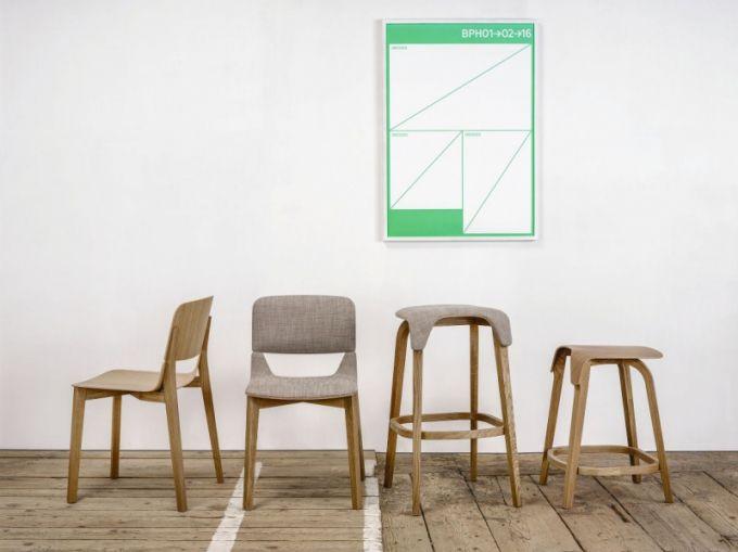 Leaf židle a barová stolička