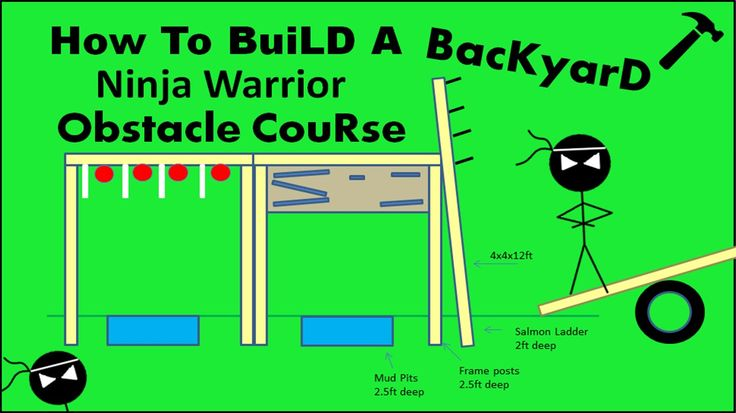 How to Build a Ninja Warrior Obstacle Course! DIY - YouTube