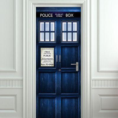 Door STICKER, mural – Police box poster. All door sizes from Pulaton