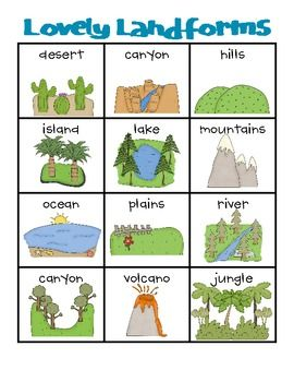 Lovely Landforms vocab