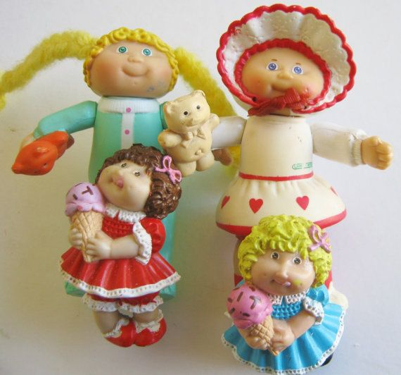 Omg! Had totally forgotten about these! Flashback! :-) Vintage 80s Cabbage Patch Kids PVC Figures Lot and by MoonParade, $8.00