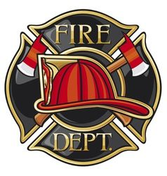 Vector image of Set of fire department emblems and badges Vector Image, includes retro, rescue, vintage, cross & stamp. Illustrator (.ai), EPS, PDF and JPG image formats.