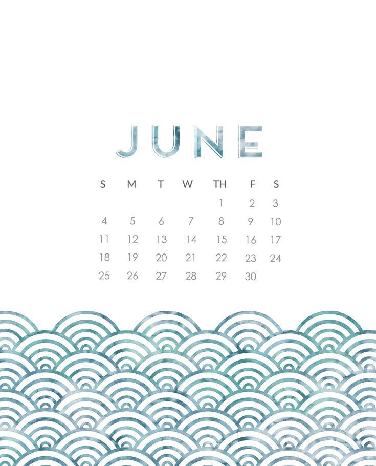 June 2017 Calendar Wallpaper