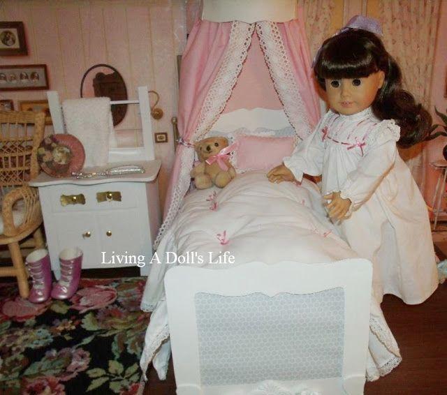 American Girl Doll Living Room Furniture: Samantha's White BEFOREVER