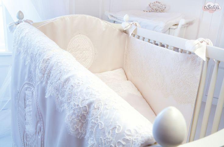 Pościel z delikatnej koronki  www.sofija.com.pl  #sofija #ubranka #bawełna #dziecko #chrzest #moda #kidsfashion #baby #kindermode #cotton #sweet #cute #ребенок