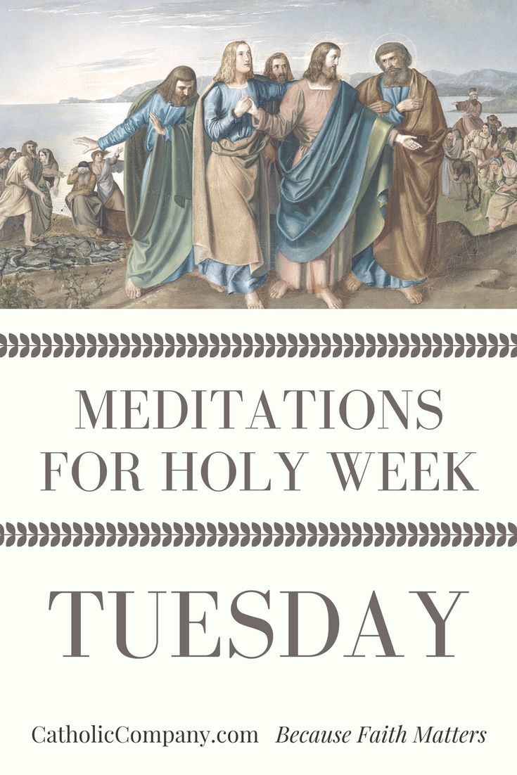Meditations For Holy Week: Tuesday