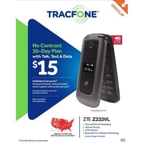 ZTE - Z233VL 4G LTE with 4GB Memory Cell Phone - Dark Gray