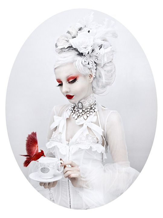 Gothic and Amazing-- change the red to blues/purples and this might be a nice ice queen look.