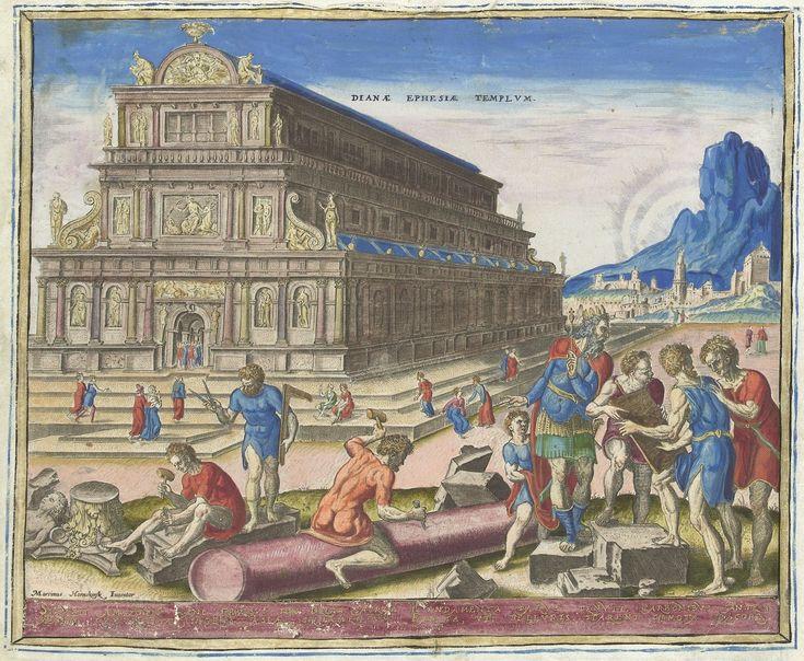 The Temple of Diana (Artemis). By Philips Galle and Maarten van Heemskerck, 1572