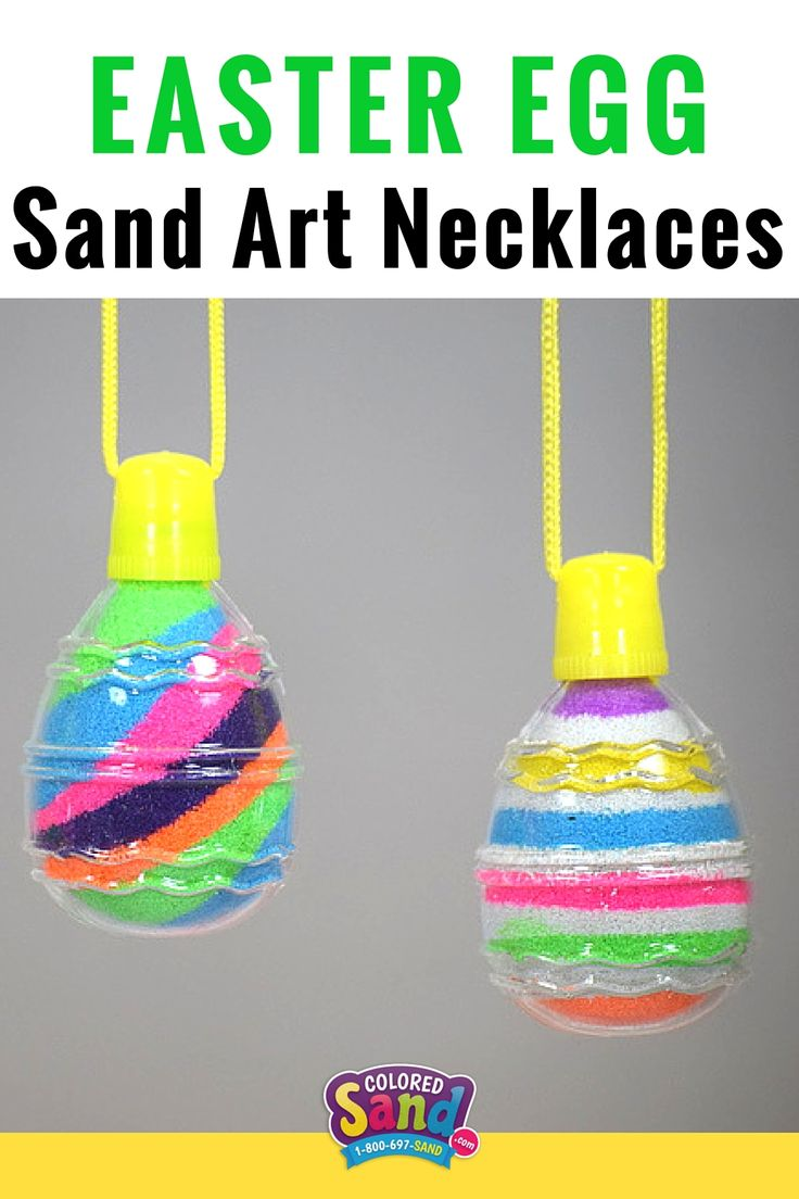 Sand Art is a hit at Easter Egg Hunts, Class Parties, Spring Carnivals, etc. Instead of giving the kids candy, let them make a colorful Sand Art Masterpiece. #1 Easter Craft for your next event.