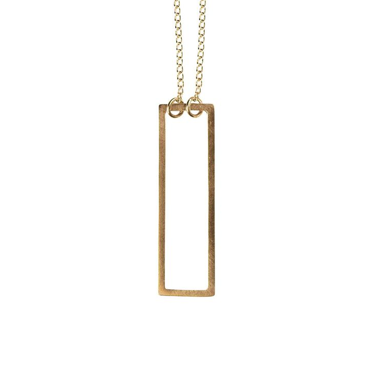 Two-way Rectangle Necklace Gold