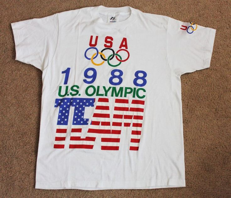 Vintage 1988 Olympics Team USA 50/50 Cotton Polyester Thin T-Shirt US 80s 1980s #ProPrints #GraphicTee