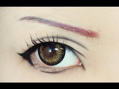 This is kinda neat---though I can sort of see the eyebrows-----Tutorial : Anime Eye Makeup 65 • Erza Scarlet