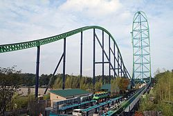 Kingda Ka rollercoaster located at Six Flags Great Adventure in Jackson, NJ....World's tallest (456ft.)....128mph