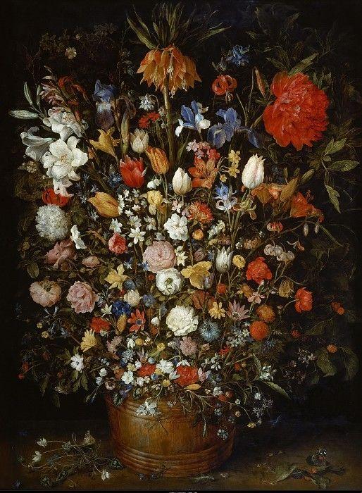 Ян Брейгель I - Натюрморт с цветами.