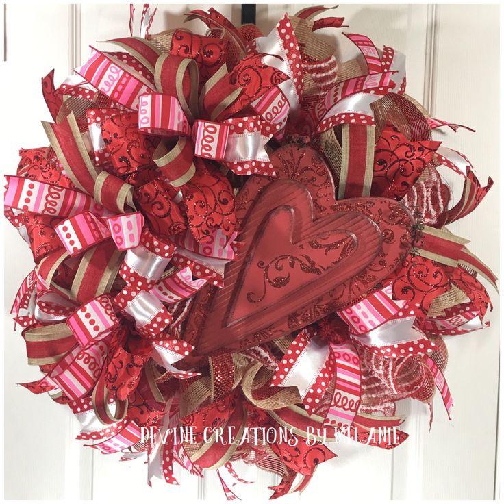 Valentine Wreath Heart Wreath Red Valentine Wreath