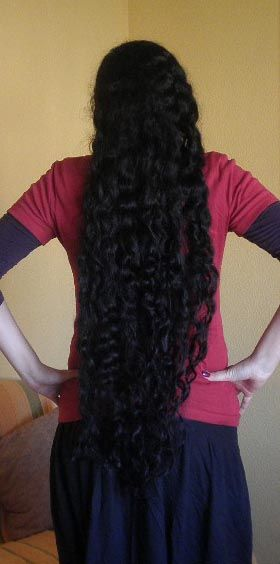 Curly Rapunzel Classic Length Hair Long Black Hair