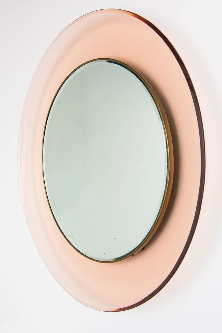 Circular wall mirror by max ingrand for fontana arte