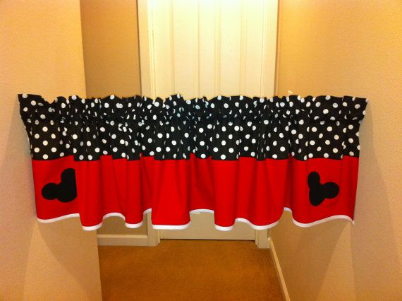 Mickey Mouse valance for kids room Unisex valance by madebyoksana, $31.00