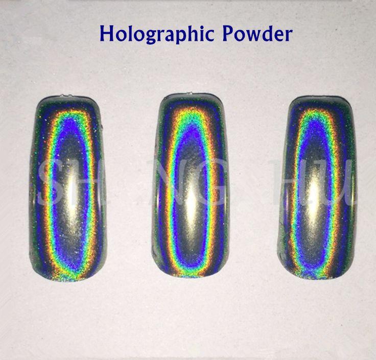 1g Holografische Poeder Nail Spiegel Poeder Chrome Nail Poeder Glitter Nagellak Pailletten Laser Eenhoorn Pigment voor Nagels Manicure