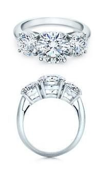 I DO! :D  Tiffany's Round Brilliant Three Stone Engagement Ring