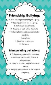 SOCIAL SKILLS: PROBLEM SOLVING WITH A FRIENDSHIP INTERVENTION $