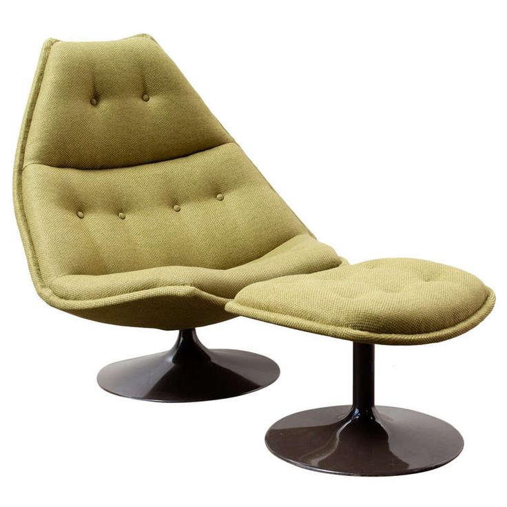 Geoffrey Harcourt For Artifort Swivel Lounge Chair with Ottoman | 1stdibs.com