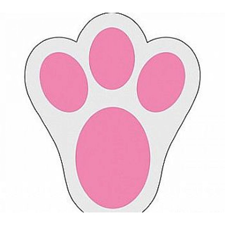 how to make easter bunny paw prints