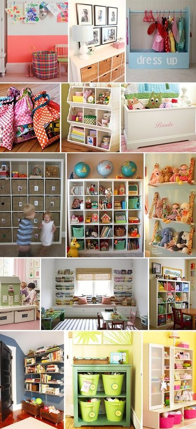 Toy Organization - great ideas for the kids' rooms!