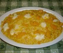 risotto alla zucca con fondente di gorgonzola