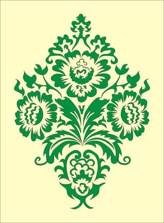 simple damask stencil - 570×772