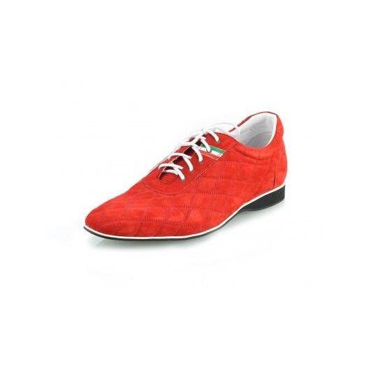 Pánske kožené športové topánky červené PT131 - manozo.hu