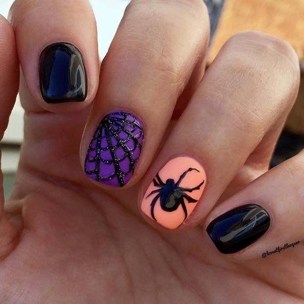 41 Creepy And Creative Halloween Nail Designs Page 4 Of 4 Stayglam Halloween Nail Designs Pumpkin Nails Orange Nails