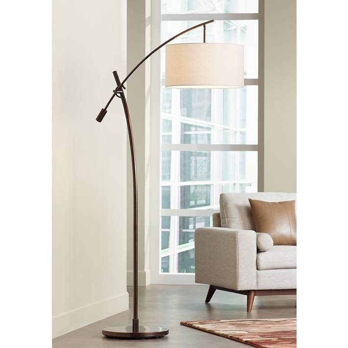 Possini Euro Bronze Finish Boom Arched Floor Lamp V2695