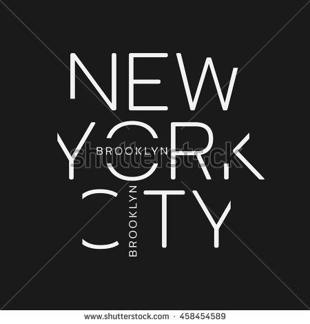 Find Vector Illustration On Theme New York stock images in HD and millions of other royalty-free stock photos, illustrations and vectors in the Shutterstock collection. Tee Design, Print Design, Logo Design, Alphabet Words, Creative Typography Design, Kids Logo, Pretty Patterns, Cool Logo, Boys T Shirts