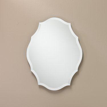 The Better Bevel Oblong Scalloped Frameless Wall Mirror 23 5w X