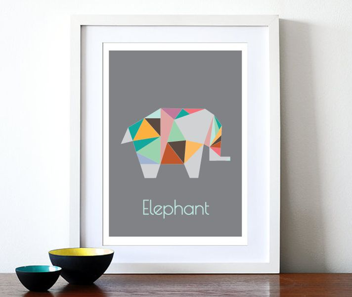 Nunu Prints - Elephant Origami