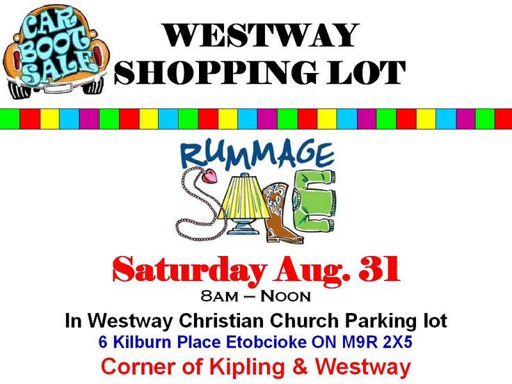 Car Boot Sale Sat. Aug 31st!